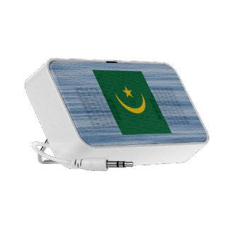 Mauritanian Flag Floating on water Laptop Speaker