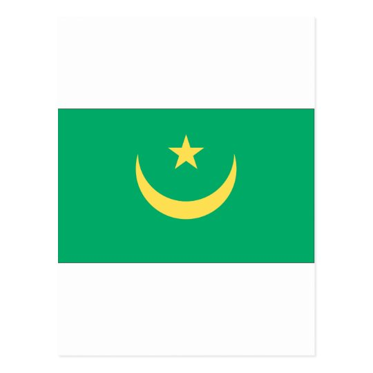 Mauritanian Flag Postcard