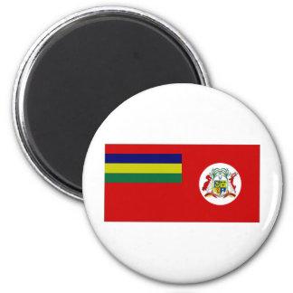 Mauritius Civil Ensign 2 Inch Round Magnet