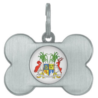 Mauritius Coat of Arms Pet ID Tag
