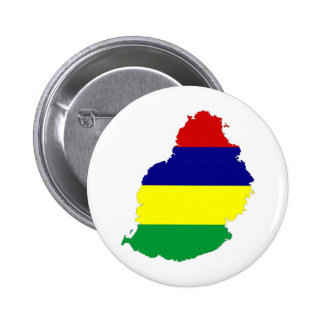 mauritius country flag map shape symbol button