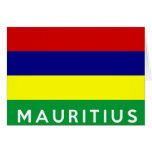 mauritius country flag symbol name text cards
