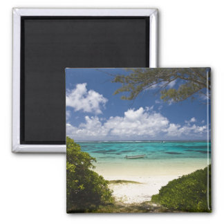 Mauritius, Eastern Mauritius, Belle Mare, East 2 Inch Square Magnet