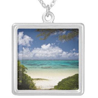 Mauritius, Eastern Mauritius, Belle Mare, East Square Pendant Necklace