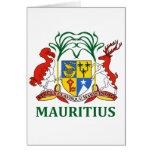 mauritius - emblem/flag/coat of arms/symbol card