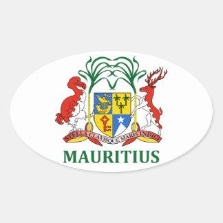mauritius - emblem/flag/coat of arms/symbol oval sticker