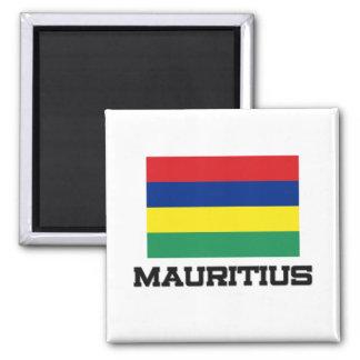 Mauritius Flag 2 Inch Square Magnet