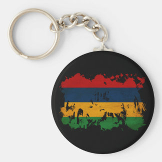 Mauritius Flag Basic Round Button Keychain