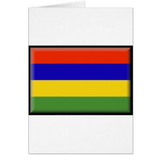 Mauritius Flag Card