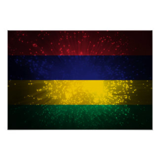 Mauritius Flag Firework Posters