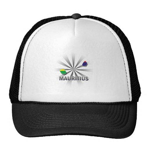 Mauritius Flag Map 2.0 Mesh Hats
