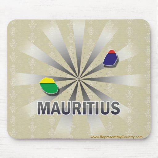Mauritius Flag Map 2.0 Mouse Pad