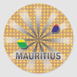 Mauritius Flag Map 2.0 Stickers
