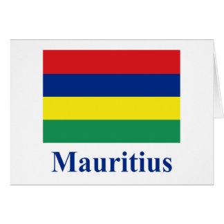 Mauritius Flag with Name Card