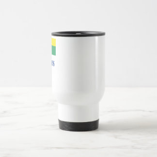 Mauritius Flag with Name Travel Mug