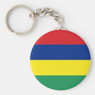 mauritius basic round button keychain