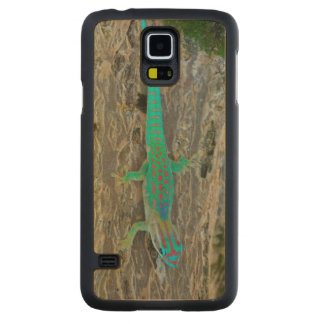 Mauritius Lowland Forest Day Gecko Carved Maple Galaxy S5 Case