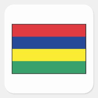 Mauritius – Mauritanian Flag Square Sticker