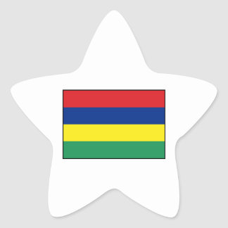 Mauritius – Mauritanian Flag Star Sticker