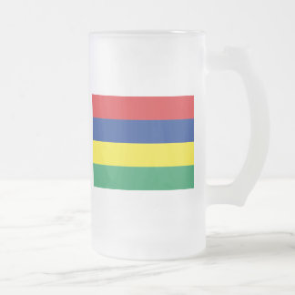 mauritius 16 oz frosted glass beer mug