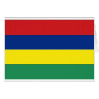 Mauritius National  Flag Card