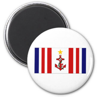 Mauritius Naval Ensign 2 Inch Round Magnet