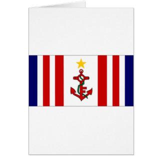 Mauritius Naval Ensign Card