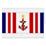 Mauritius Naval Ensign Greeting Cards