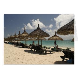 Mauritius, Poste de Flacq. Beach scene at the Card
