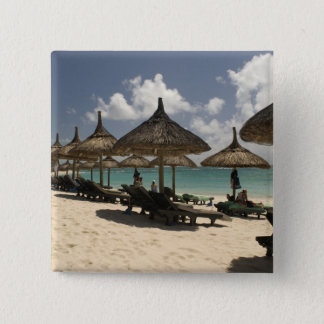 Mauritius, Poste de Flacq. Beach scene at the Pinback Button