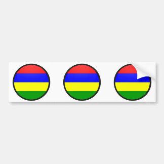 Mauritius quality Flag Circle Car Bumper Sticker