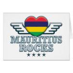 Mauritius Rocks v2 Greeting Cards