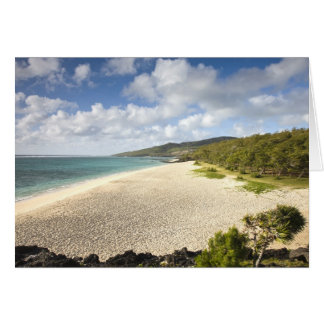 Mauritius, Rodrigues Island, St. Francois, St. Greeting Card
