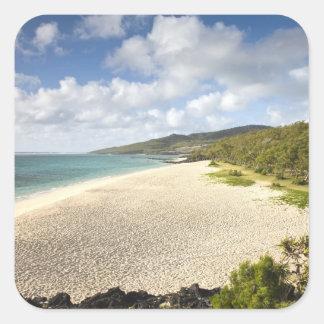 Mauritius, Rodrigues Island, St. Francois, St. Square Sticker