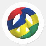 Mauritius Round Stickers
