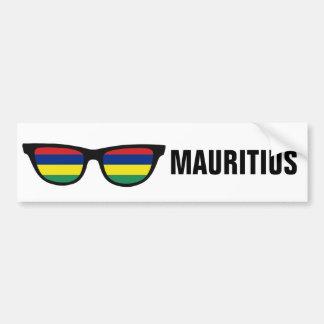 Mauritius Shades custom text & color bumpersticker Car Bumper Sticker
