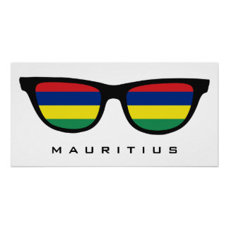 Mauritius Shades custom text & color poster