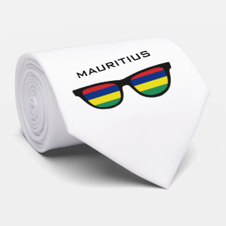 Mauritius Shades custom text & color tie