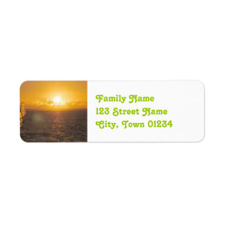 Mauritius Sunset Return Address Label