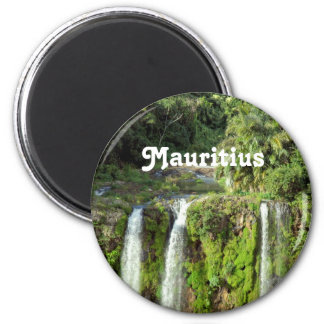 Mauritius Waterfalls 2 Inch Round Magnet