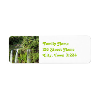 Mauritius Waterfalls Return Address Label