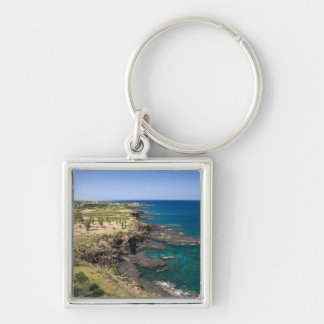Mauritius, Western Mauritius, Belle Vue, Ocean Silver-Colored Square Keychain