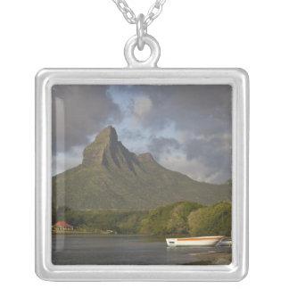 Mauritius, Western Mauritius, Tamarin, Montagne Square Pendant Necklace