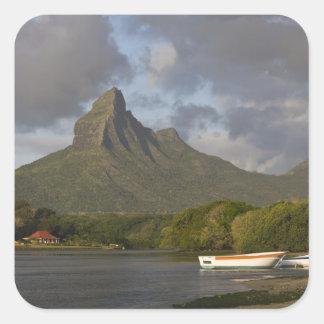 Mauritius, Western Mauritius, Tamarin, Montagne Square Sticker