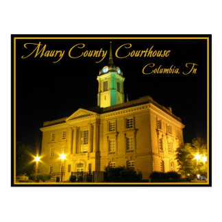 Maury County Courthouse - Columbia, TN Postcard