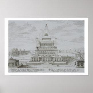 Mausoleo de Halicarnassus, Bodrum, Turquía, de ' Posters