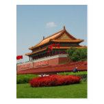 Mausoleo de Maos en la Plaza de Tiananmen Postal