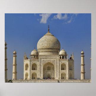 Mausoleo del Taj Mahal/Agra, la India Póster