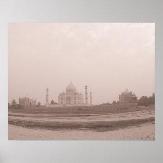 Mausoleo en la orilla el Taj Mahal Agra Impresiones