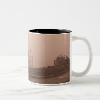 'Mausoleum at the riverside, Taj Mahal, Agra, 2 Two-Tone Coffee Mug